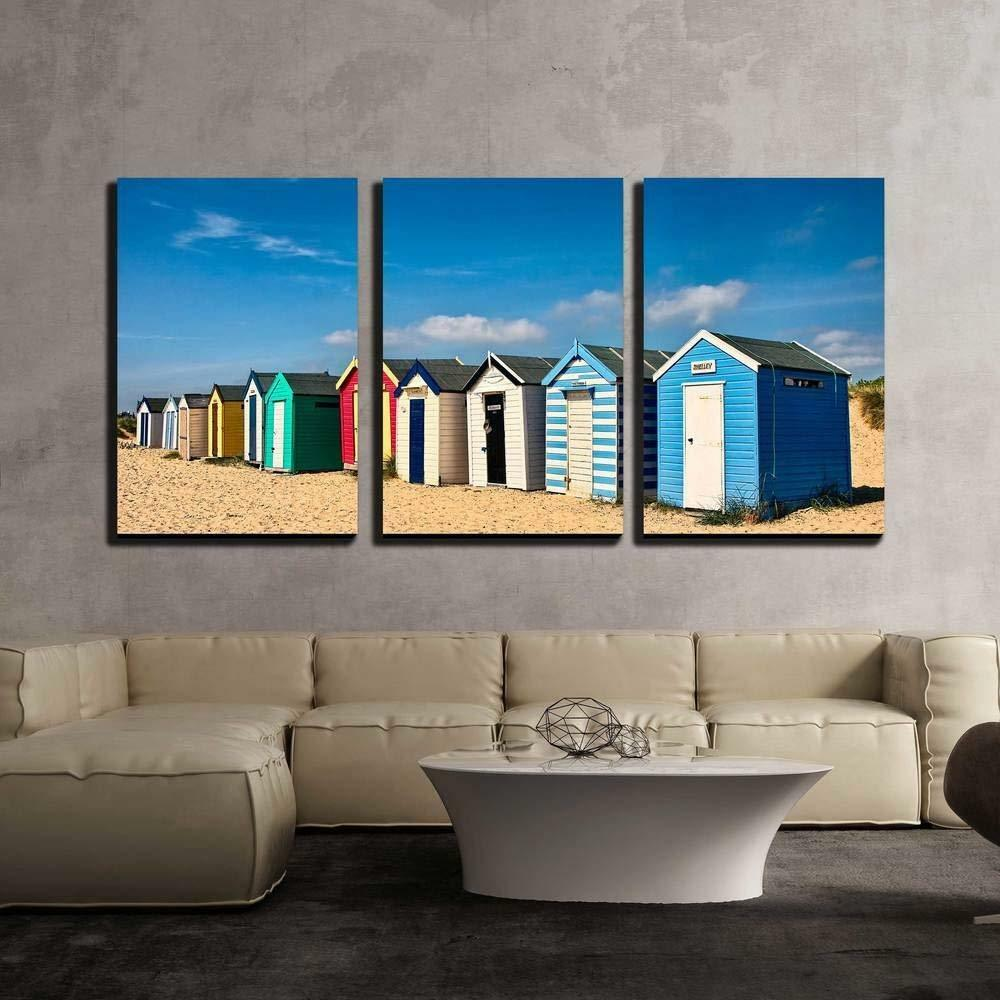 Wall26 - Row of Beach Huts on the Sand at Southwold - CVS - 16 x24 x3 Panels