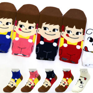 5-Pairs-Peko-Chan-Poko-Chan-Women-Socks-Girl-Cute-Casual-Fashion-Character-Socks