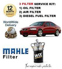 FOR VOLVO S60 2.4D DIESEL 2001-> SERVICE SET OIL AIR FUEL ( DIESEL )  FILTER KIT