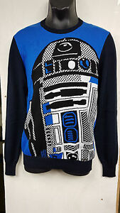 039799ea325 Details about ICEBERG LIMITED EDITION BLUE STAR WARS R2D2 MENS DESIGNER  JUMPER SWEATER SIZE M
