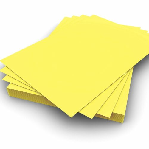 Card Making A5 160gsm Plain Yellow Card Pack of 100 Perfect for Crafting