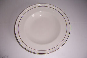 GIBSON HOUSEWARES CHINA PLATES & BOWLS WHITE WITH GOLD TRIM SET OF ...