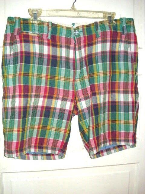 Ralph Lauren Polo Mens Size 34 Madras Shorts MSRP
