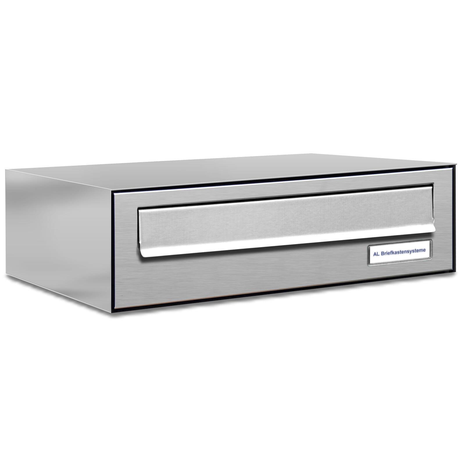 1er Premium Zaun Durchwurf Briefkasten V2A 1 Fach Postkasten design A4
