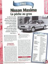 Nissan Maxima GL Berline Break V6 Turbo 1985 Japan Japon Car Auto FICHE FRANCE