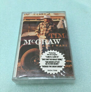 Tim-McGraw-All-I-Want-1995-Cassette-Tape-Album-Classic-Country-Folk-Rock