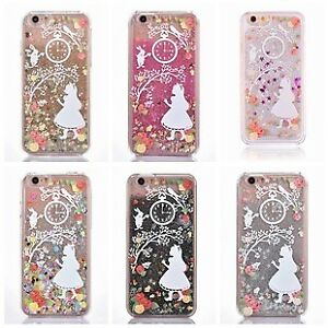 Details about Alice In Wonderland Glitter Liquid Hard Phone Case Cover iPhone 5 5S 6 6S 7 Plus