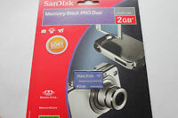 1pcs Sandisk 2gb Sony Memory Stick Pro Duo For Sony Cybershot Cameras Psp