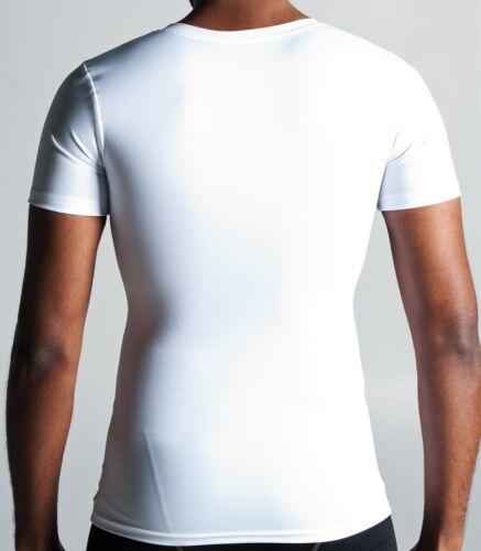 Compression V-neck Gynecomastia Undershirt X-Small White 3 pack Value