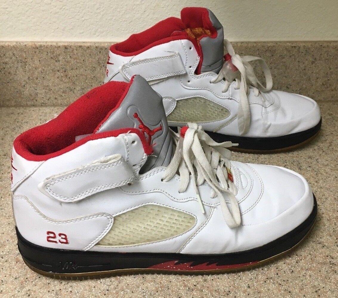 Nike air jordan air force af-1 red & white taglia 11 / 10 uk / 45 eur / 29 cm