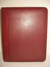 Franklin Quest Leather Binder Organizer Vintage Burgundy Zipper Closure