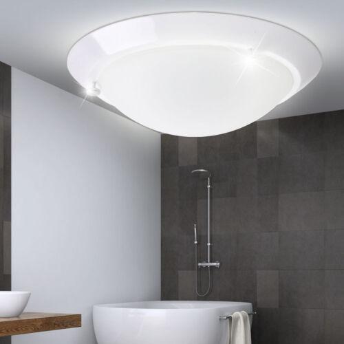 Decken Strahler Leuchte Bade Zimmer Glas Beleuchtung Feucht Raum Lampe weiß