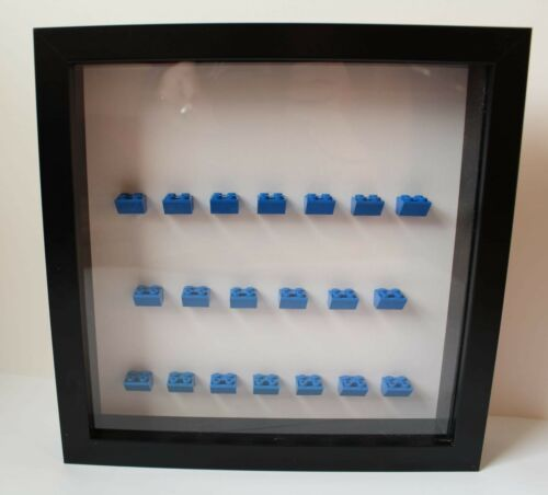 Black Lego Frame 20 X Minifigures Blue Slopes.(Minifigures Are Not Included).