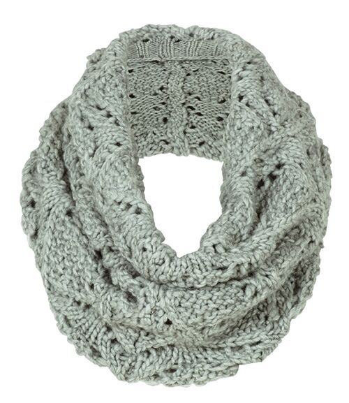 Aran Traditions Womans Ladies Winter Warm Knitted Lace Style Pebble Snood