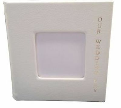 10 Small Double CD DVD Wedding Photo Album Case with Gold Lettering Cream HQ AAA