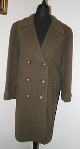 Harve Uld Field Trench Tweed Brown Vtg Jacket Euc Women's 8 Coat Benard Sz Stqx5wU