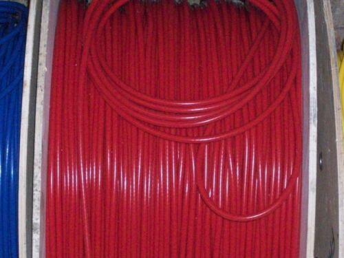 Rosso 8mm Extralunghi BOBINA DI ACCENSIONE PIOMBO tutte le auto 50s//70s e più di 1 metri di lunghezza