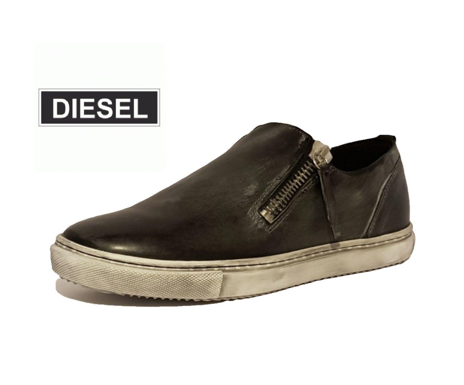 Zapatos de Cuero Diesel fuera de de fuera su Rocker Icono De Moda Tenis   Negro ee723b