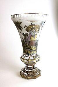 Vase-Boehmen-Biedermeier-Goldmalerei-1820-1850