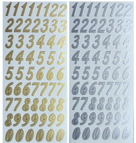 4 9 0 Card Making 5 6 NUMBERS Peel Off Stickers 20mm Tall  1 7 2 8 3