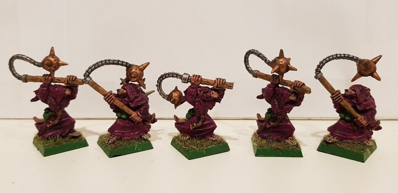 5 x SKAVEN Classic Plague Censer Bearer well painted metal models (A) OOP