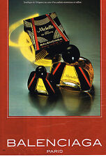 PUBLICITE ADVERTISING 045 1981  BALENCIAGA  pafum femme MICHELLE