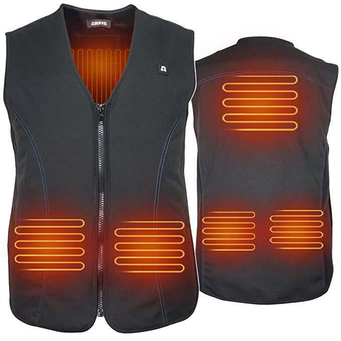 ARRIS Heated Vest Hook and Loop Size Adjustable Heating Business Suit Hiking