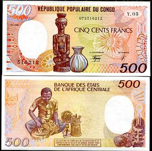 CONGO-REPUBLIC-500-FRANCS-1990-P-8-UNC