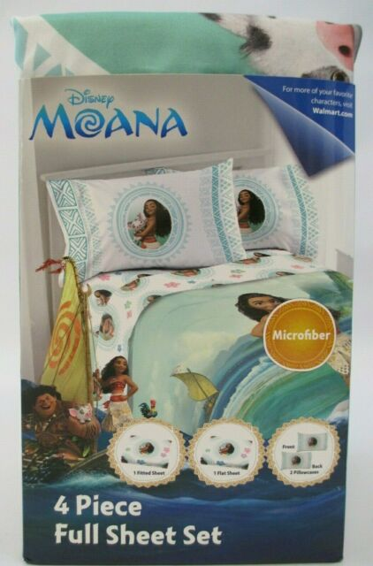 Disney Moana 4pc Mirofiber Full Sheet, Moana Queen Size Bed Sheets