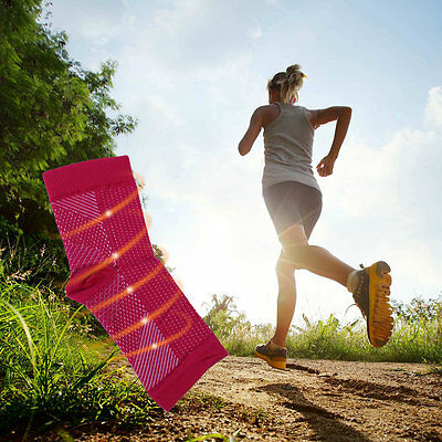 Outdoor Sport Anti Fatigue Angel Circulation Compression Foot Sleeve Socks M#