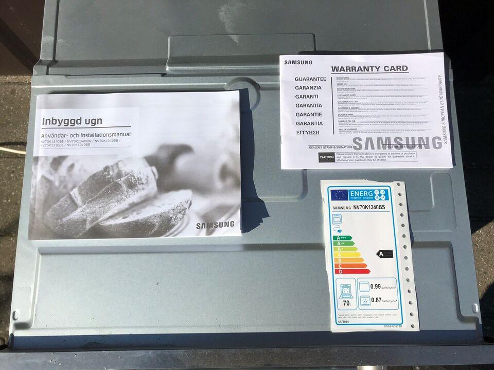 Indbygningsovn, Samsung Nv70k1340bs, b: 59 d: 56 h: 57