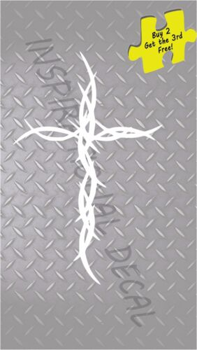 JESUS CROSS OF THORNS PASSION DECAL//STICKER  # 277