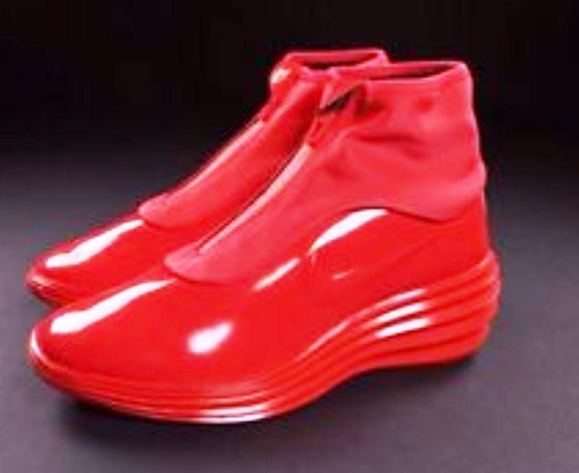 Nike Lunar Elite Sky Hi Sneakerboot Wedge Red New Size 9.5