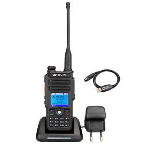 DMR Dual Band Retevis rt82 Talkie-Walkie Talkie Walkie 2200 mAh + Câble de programmation