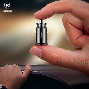 Baseus-Mini-USB-Car-Charger-For-Mobile-Phone-Tablet-GPS-3-1A-Fast-Charger-Car
