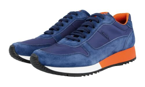 Luxury Suede Shoes 37 3e5939 New Prada New Sneaker Blue 5 Matchrace 37 BwqYBxrt7
