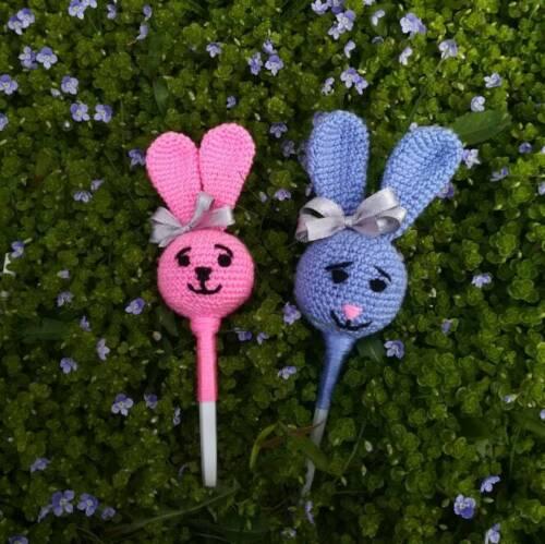 Easter Bunny Crochet Pattern Bunny Candy Amigurumi Knit Toys Flowerpot Decor
