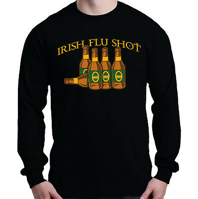Irish Flu Shot Women/'s V-Neck Funny Drinking Saint Patricks Day Beer Shamrock