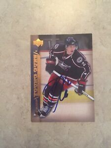 Kris-Russell-Signed-Edmonton-Oilers-Upper-Deck-Young-Guns-Rookie-Card