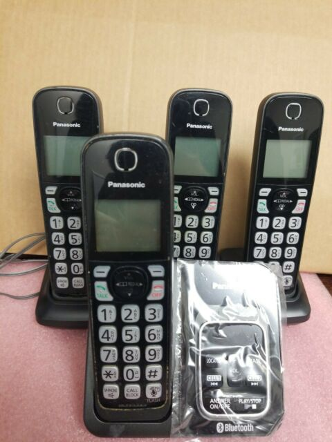 Panasonic KX-TG744SK Bluetooth Cordless Phone with Voice Assist 4 Handsets