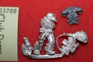 Warhammer 40k Space Marines Veterans Sergeant Metal Figure Mint New WH40K OOP
