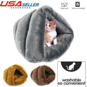 Pet Cat Dog House Kennel Puppy Cave Sleeping Bed Warm Nest Super Soft Mat Pad