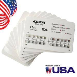 USPS-10-AZDENT-Dental-Orthodontic-Metal-Brackets-Brace-Mini-MBT-Slot-022-Hooks-3