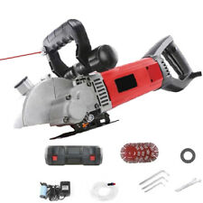 Wall Slotting Machine 5200w Electric Chaser Groove Concrete Saw Blade Kits Tools