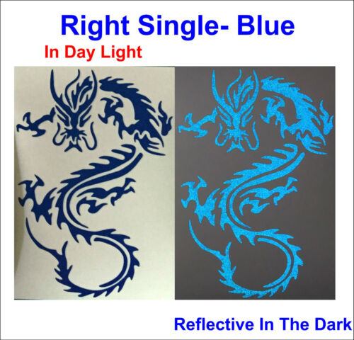 Boats Home Decal Single//Twin Asian Dragons #A  3M Reflective Sticker For Cars