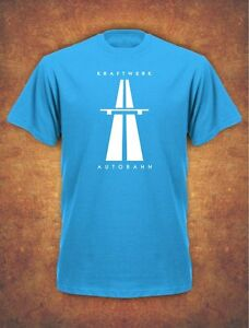KRAFTWERK-AUTOBAHN-RETRO-TECHNO-Mens-T-Shirt-Sky-Blue