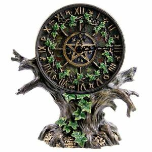 Astrology-Tree-Of-Life-Hand-Painted-Gothic-Pagan-Resin-Desk-Clock