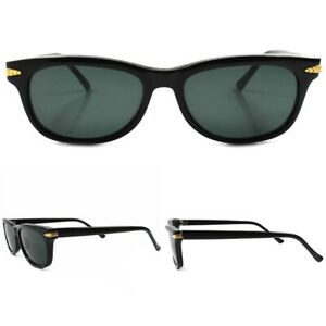 Black-Horn-Rimmed-True-Vintage-80-039-s-Style-Hipster-Mens-Womens-Classic-Sunglasses