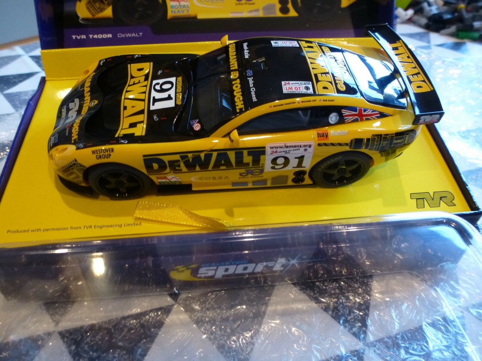 Scalextric NEW 1 32 C2453a TVR Tuscan 400R Dewalt No91  For Collectors
