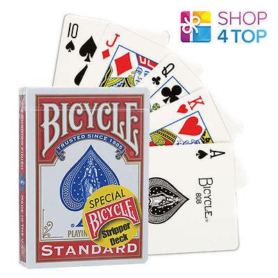 Bicycle Rider Back Stripper Deck Magische Tricks Playing Poker Karten Rot Blau